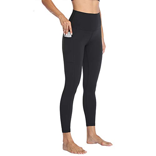 HIGHDAYS High Waist Yoga Pants with Pockets for Women - Soft Tummy Control 4 Way Stretch Workout Leggings