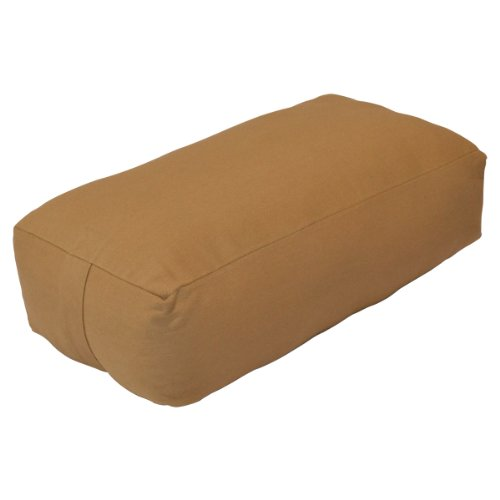YogaDirect Supportive Rectangular Cotton Yoga Bolster, Russet