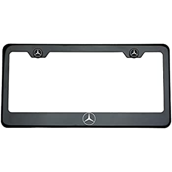 Amazon Com One Mercedes Benz Logo On Black Chrome