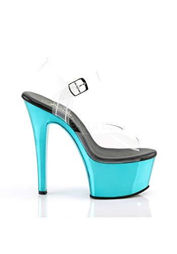 Damen Aspire Sandalen Offene 608 Chrome Turquoise Clr Pleaser dvRAqd