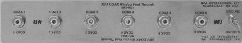 MFJ-4601 Window feedthrough panel, 6x SO239
