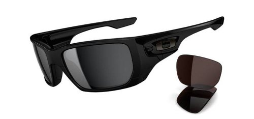 Oakley Style Switch Asian Fit Sunglasses,Plshd Blk/Blk Irdm & VR28 Blk Irdm,55mm