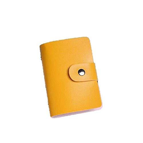 LiLiMeng Men Women Leather Credit Card Holder Case Card Holder Wallet Business Card YE