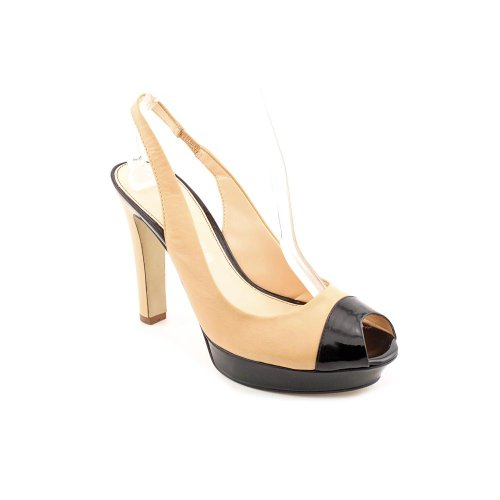 Marc Fisher Torch Womens Size 10 Nude Leather Platforms Heels Shoes
