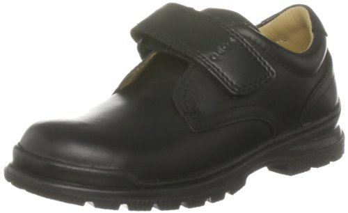 Geox William 1 Uniform Velcro Shoe (Toddler/Little Kid/Big Kid),Black Slip-On,30 EU (12 M US Little Kid)