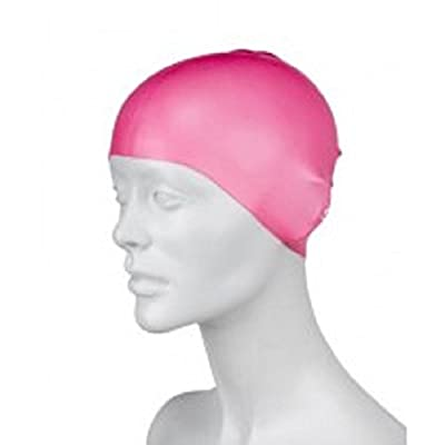 Silicone Swim Cap - Allergy Free - Comfortable Fit Great for Long Hair and Short Hair - For Adults and Kids - Premium Thick Anti Rip Material - Includes Free Gift a Pair of Ear Plugs