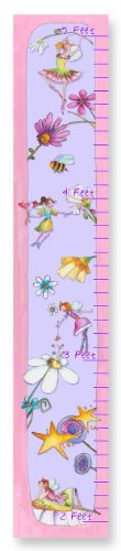 The Kids Room by Stupell Flower Fairy Princesses Growth Chart, 7 x 0.5 x 39, Proudly Made in (Princess Child Growth Chart)
