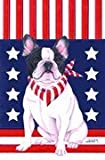 Cheap French Bulldog – by Tomoyo Pitcher, Patriotic Themed Dog Breed Flags 12 x 18