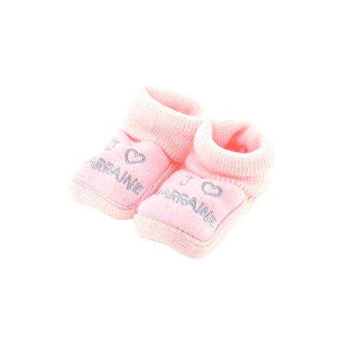 botines bebé rosada Meses 0-3 - Como madrina