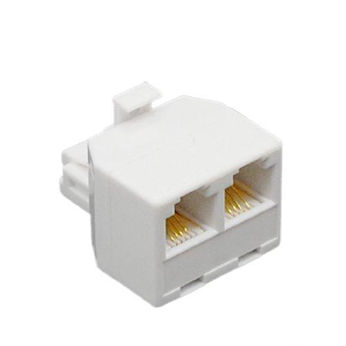 uxcell RJ11 6P4C 2-Way Modular Phone Telephone Wall Splitter Adapter Connector ()