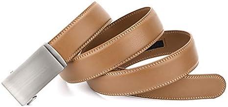 REGITWOW Mens Belt Slide Ratchet Belt for Men with Genuine Leather Adjustable from 28 to 41 Waist