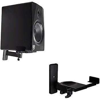 pair wall mount swivel brackets yamaha hs8 hs 8 studio monitor speakers computers. Black Bedroom Furniture Sets. Home Design Ideas