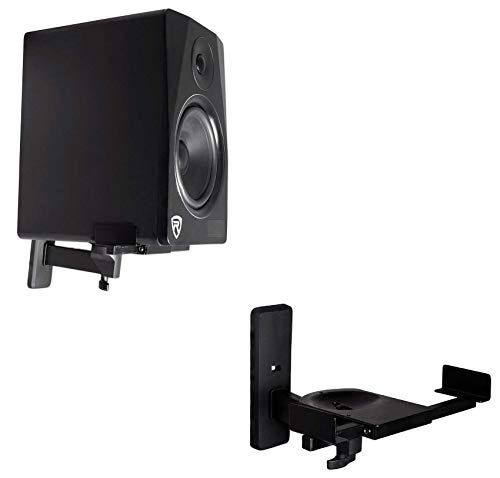 Pair Rockville RHSB8 Wall Mount Swivel Home Theater Bookshelf Speaker Brackets ()