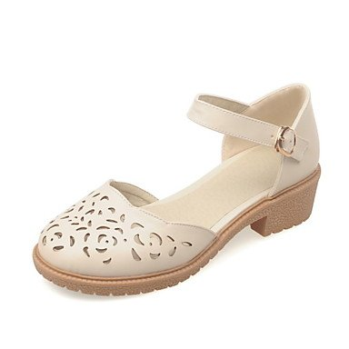 D'Orsay Piece Shoes 5 EU38 Heels Zormey Women'S 5 Dress amp;Amp; Beige White Two US7 Heel Round Low CN38 Toe Pink UK5 wIpagq0