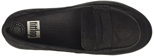 Penny Mocasines Negro Snake Mujer Loafer embossed Sporty Fitflop para F Black 394 Snake gxXBOO