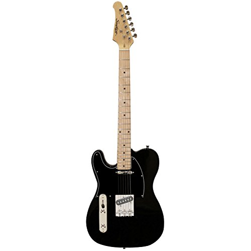 Sawtooth ST-ET50-LH-BKB Classic ET 50 Ash Body Left-Handed Electric Guitar - Black with Black pickguard