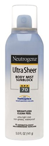 Neutrogena Ultra Sheer Body Spf70 Mist Spray 5 Ounce