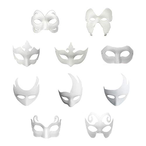 Rehoty DIY Masks for Adults Kids-Paint Your Own-White