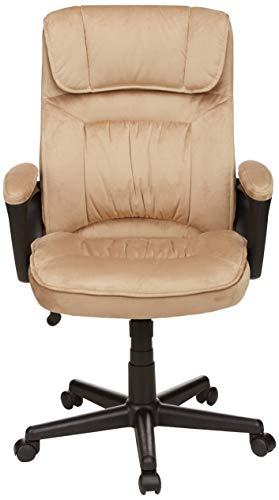 AmazonBasics Classic Office Chair - Adjustable, Swiveling, Microfiber Cover - Light Beige by AmazonBasics (Image #3)