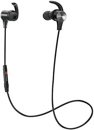 TaoTronics Bluetooth Headphones, Wireless 4.1 Magnetic Earbuds aptX Stereo Earphones, IPX5 Splash Proof Secure Fit for Sports with Built-in Mic [Upgraded Version]