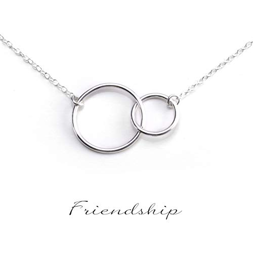 BEST FRIENDS NECKLACE - Friendship Necklace - PURE Sterling Silver Necklace (Handmade in the USA by Gracefully Made Jewelry)