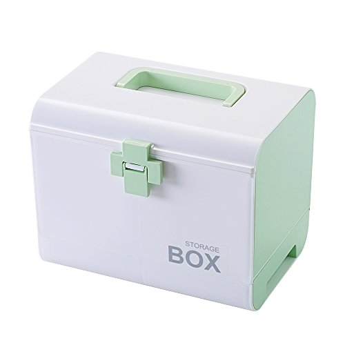 IMPR3 TREE Plastic Child Proof Security Storage Box Organizer Medicine Box Family Emergency Kit (Green) by IMPR3 TREE