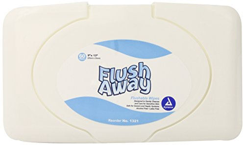 Dynarex Flushable Adult Wipes Tub Pack, 540 count (Pack of 9) by Dynarex