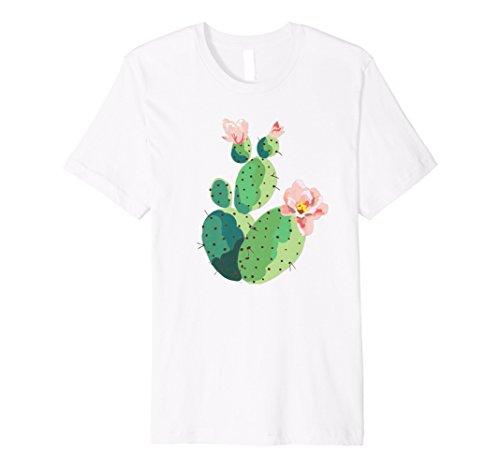 - Beautiful Cactus Tree Pink Flowers Hand Drawn Painting Shirt