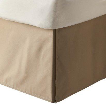 LaxLinens 350 fils cm², 100%  coton, finition élégante 1 jupe plissée de chute lit Longueur    18  Euro massif King-Taupe
