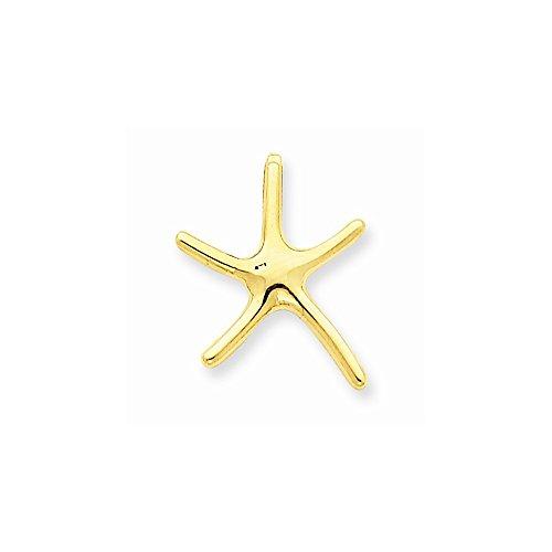 14k Starfish Chain Slide, Best Quality Free Gift Box