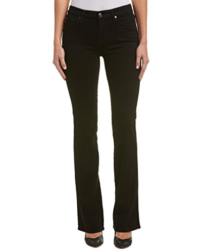 [7 For All Mankind Women's Kimmie Bootcut in Washed Overdye Black Washed Overdye Black Jeans] (7 Bootcut Low Rise Jeans)