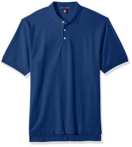 D & Jones Men's DEJN-D100 Pima Piqué Short-Sleeve Polo, True Royal, 6XL