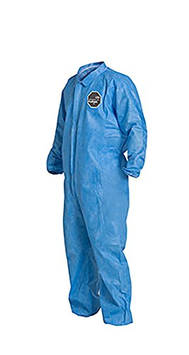 DuPont ProShield 10 PB125S Protective Coverall with Serged Seams, Disposable, Elastic Cuff and Ankles, X-Large, Blue (Pack of 25) by DuPont (Image #3)