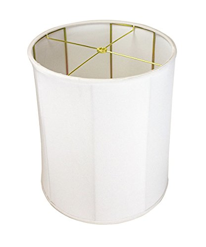 14x15x17 Collapsible Drum Lampshade Premium White Linen w...
