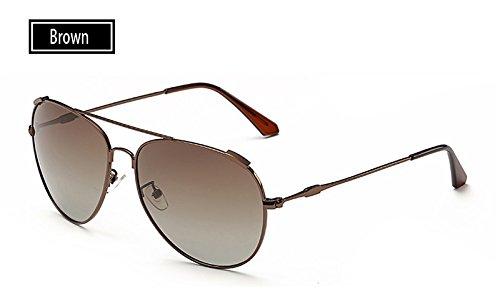 TL gris sol deportivas polarizadas al oro guía sol pesca de Gafas aire brown Sunglasses UV400 de gafas libre de gafas hombres mujeres rRwprtnqA