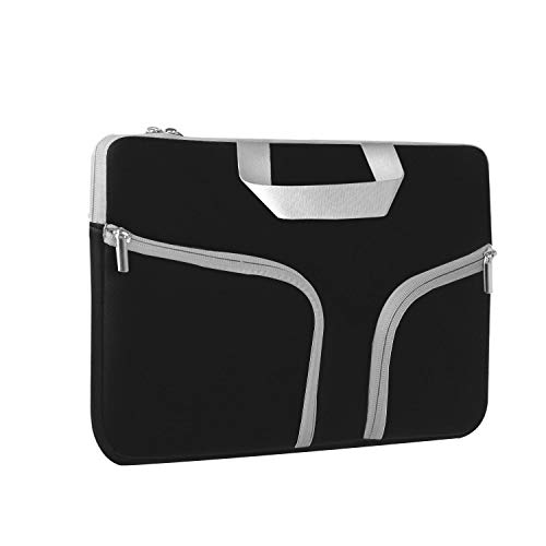 Chromebook Case, HESTECH 14-15.4 Neoprene Laptop Sleeve Case with Handle for 15-15.6 Inch HP | Dell | Asus | Acer | Thinkpad | Samsung Laptops Ultrabook,Black