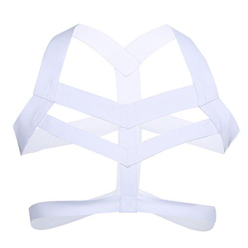 iiniim Men's Nylon Body Chest Harness Lingerie Elastic