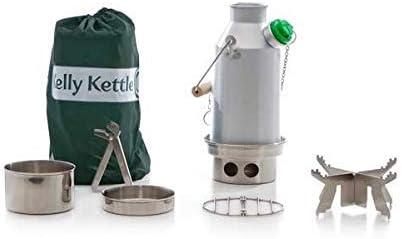 Kelly Kettle Trekker Basic Juego 0,6l Aluminio Hervidor+Acero Cocina Juego+Acero Hierba Apoyo Acampada hervidor y Campamento Horno en uno Ultrarrápido Ligero Madera Alimentado de la Estufa. No: Amazon.es: Jardín