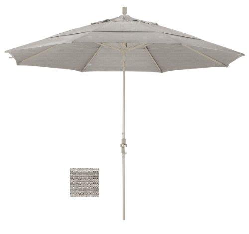 Cheap California Umbrella 11′ Round Aluminum Market Umbrella, Crank Lift, Collar Tilt, Sand Pole, Woven Granite Olefin