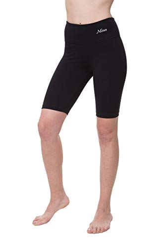 (NIRLON Womens Workout Shorts (M, Black))