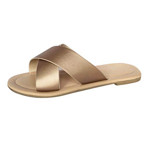 WEISUN Wedges Sandals Women Strap Ankle Buckle Flatform Wedges Woven Sandals Roman Shoes Comfy Sandals Rose Gold
