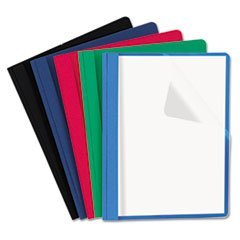 * Clear Front Report Cover, Tang Fasteners, Letter Size, Assorted Colors