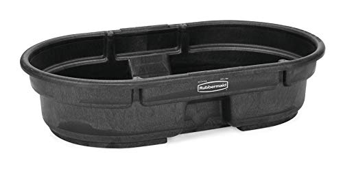 (Rubbermaid Commercial Structural Foam Stock Tank, 50 Gallon Capacity, Black (FG424300BLA))