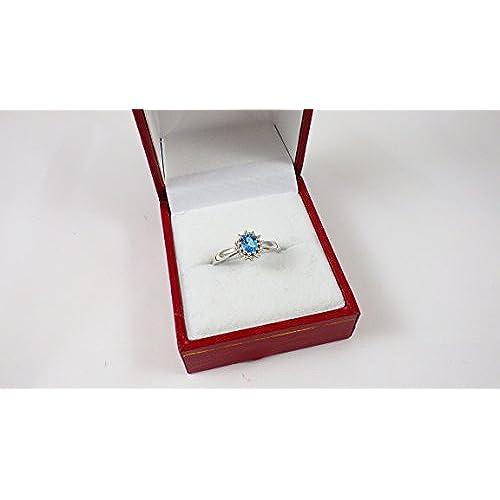 6971eb19c713 60% de descuento La Colección Anillo Topacio Azul  Anillo Oro Blanco ...
