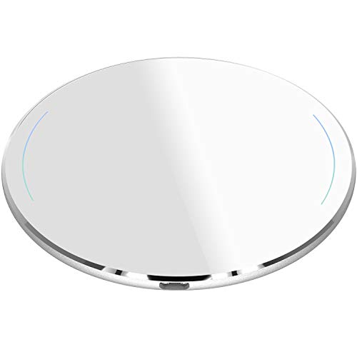 TOZO for iPhone X Wireless Charger [Upgraded], [Ultra Thin] Aviation Aluminum [Sleep-Friendly] Fast Charging Pad for iPhone X/10/8/8 Plus, Samsung Galaxy S8, S8+, Note 8 ()