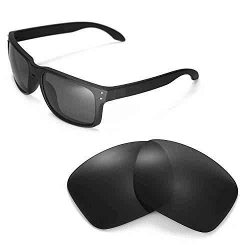 Walleva Replacement Lenses for Oakley Holbrook Sunglasses -Multiple Options (Black - ()