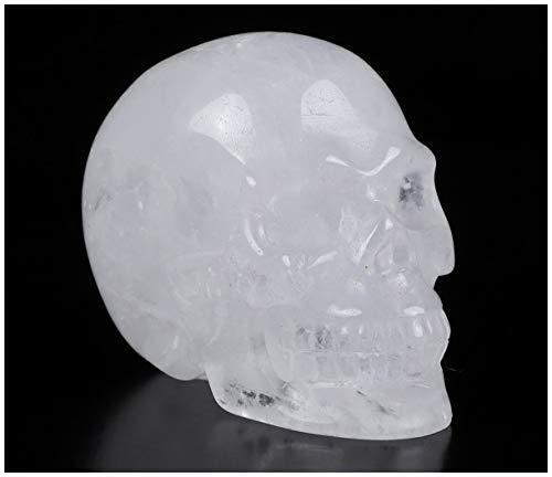 Skullis 2.0 Quartz Rock Crystal Carved Crystal Skull. Hand Carved Gemstone Fine Art Sculpture.
