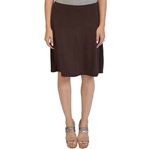 Stretch is Comfort Women's A-Line Skirt Brown 3X