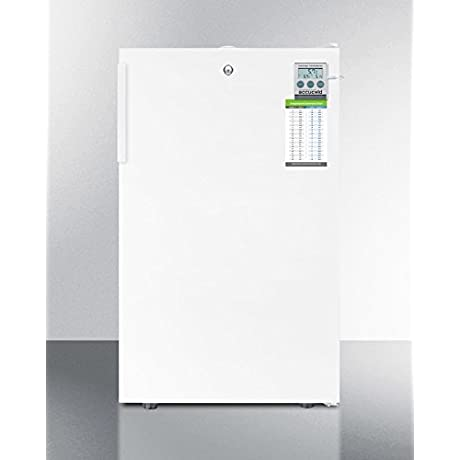FF511LPLUS 20 AccuCold PLUS Series Medical Compact Refrigerator With 4 1 Cu Ft Capacity Hospital Grade Cord Adjustable Thermostat Interior Lighting And Automatic Defrost In White