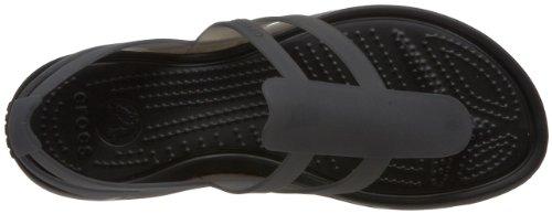 Noir Adrina black Crocs black Strappy Women Sandal Femme Sandales FYxSPzxw